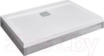 Фронтальная панель поддона Radaway Argos D 900x1100 (хром) - вид с поддоном