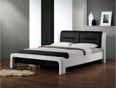 Двуспальная кровать Halmar Cassandra (бело-черный)