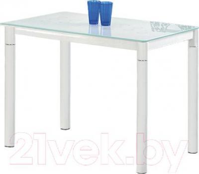 Обеденный стол Halmar Argus (молочно-белый) - стаканы в комплект не входят