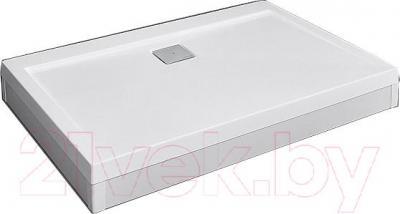 Фронтальная панель поддона Radaway Argos D 900x1100 (белый) - вид с поддоном