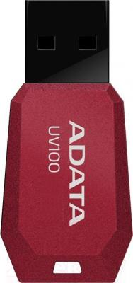 Usb flash накопитель A-data DashDrive UV100 Red 32GB (AUV100-32G-RRD) - общий вид