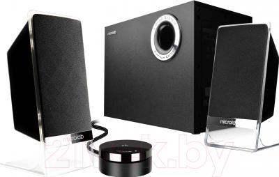 Мультимедиа акустика Microlab M-200BT Platinum (черный) - общий вид