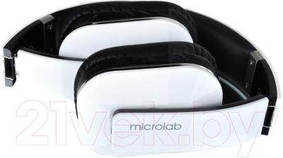 Наушники-гарнитура Microlab T1 (черно-белый) - в сложенном виде