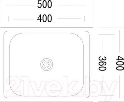 Мойка кухонная Ukinox STM 500.400 T 4K (правая) - схема