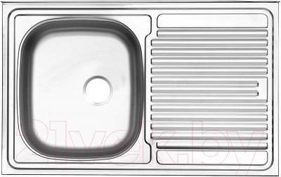 Мойка кухонная Ukinox STM 800.500 T 6K (правая) - общий вид