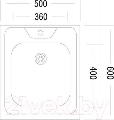 Мойка кухонная Ukinox STM 500.600 T 6K - схема