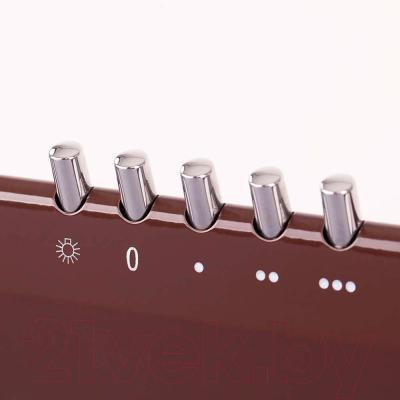 Вытяжка купольная Pyramida Basic Casa 50K (коричневый) - панель управления