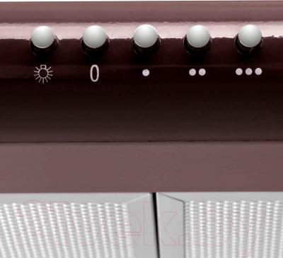 Вытяжка плоская Pyramida Basic Uno 50 (коричневый) - панель управления