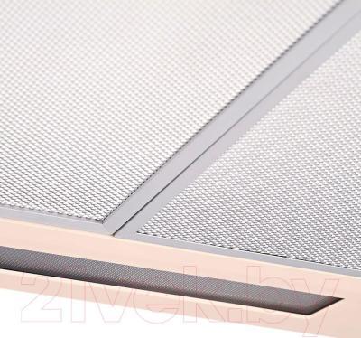 Вытяжка плоская Pyramida Basic Uno 50 (слоновая кость) - жировой фильтр