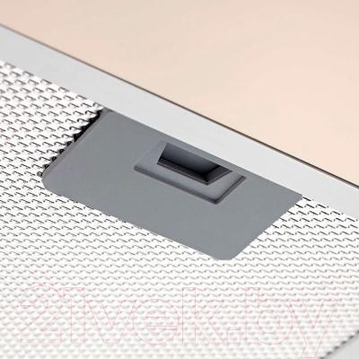 Вытяжка плоская Pyramida Basic Uno 50 (слоновая кость) - жировой (алюминиевый) фильтр
