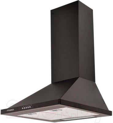 Вытяжка купольная Pyramida KH 60 (1000, черный) - общий вид