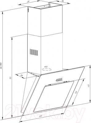 Вытяжка декоративная Pyramida NR 60 MU/U (черный)