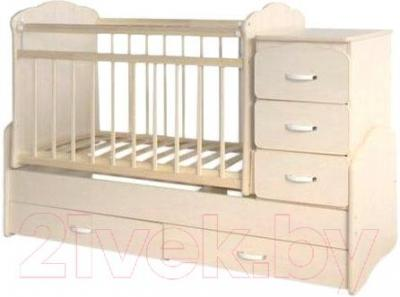 Детская кровать-трансформер СКВ 930039 (бежевый) - общий вид