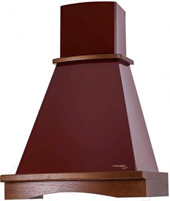 Вытяжка купольная Pyramida R 60U (бордовый) - общий вид