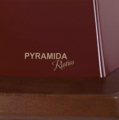 Вытяжка купольная Pyramida R 60U (бордовый) - детальное изображение