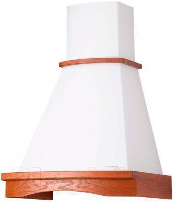 Вытяжка купольная Pyramida R 60U (белый-вишня) - общий вид