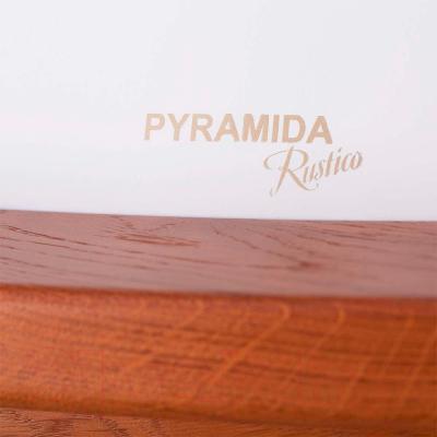 Вытяжка купольная Pyramida R 60U (белый-вишня) - детальное изображение