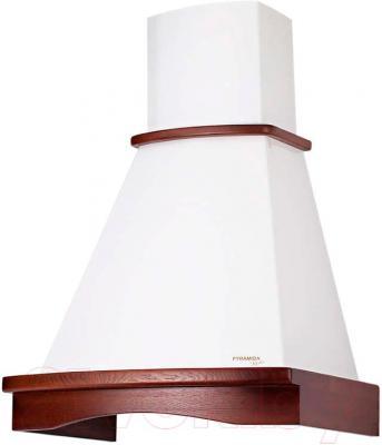 Вытяжка купольная Pyramida R 60U (белый-орех) - общий вид