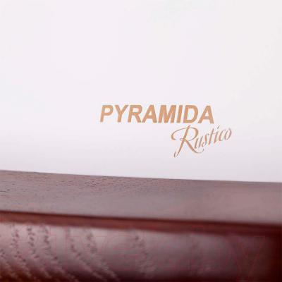 Вытяжка купольная Pyramida R 60U (белый-орех) - детальное изображение