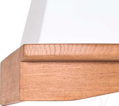 Вытяжка купольная Pyramida R 60U (белый) - кант из древесины дуба