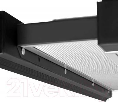 Вытяжка телескопическая Pyramida TL 50N (черный) - алюминиевый фильтр