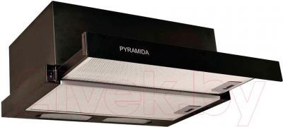 Вытяжка телескопическая Pyramida TL 50N (черный) - общий вид