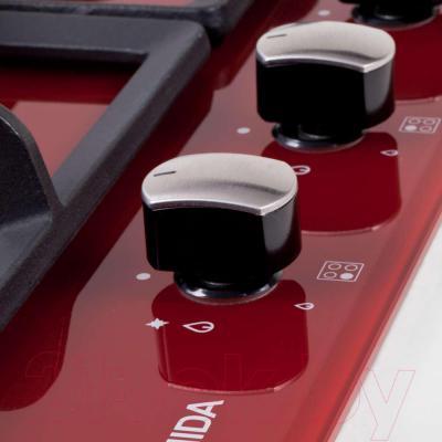Газовая варочная панель Pyramida PFH 640 STG (красный) - управление