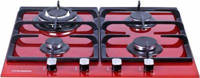 Газовая варочная панель Pyramida PFH 640 STG (красный) - общий вид