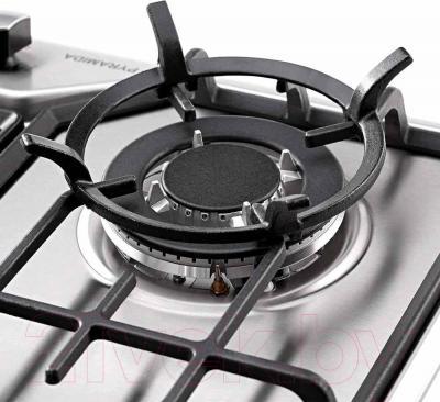 Газовая варочная панель Pyramida PFX 641 Luxe (нержавеющая сталь) - подставка для сковороды вок