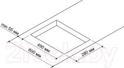 Газовая варочная панель Pyramida PFG 320 (черный) - схема