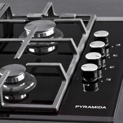 Газовая варочная панель Pyramida PFG 614 STX - управление