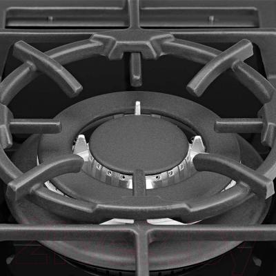 Газовая варочная панель Pyramida PFG 640 LUXE (черный) - турбоконфорка