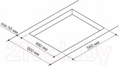 Газовая варочная панель Pyramida PFG 647 Luxe (черный) - схема