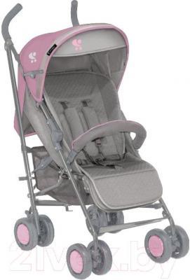 Детская прогулочная коляска Lorelli I-Move (серо-розовый) - общий вид