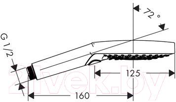 Душевая лейка Hansgrohe Raindance Select S 26530000 - схема