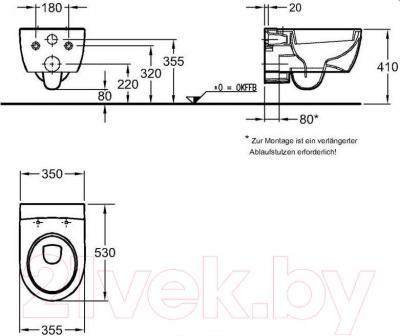 Унитаз подвесной Keramag iCon 204000-000