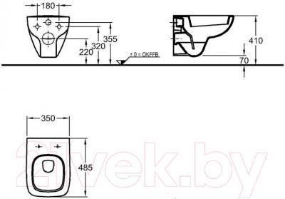 Унитаз подвесной Keramag Renova 206145-000