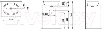 Умывальник Laufen Pro 52x39 (8129640001091)