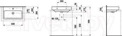 Умывальник накладной Laufen Pro 60x38 (8179590001041)