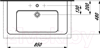 Умывальник Laufen Pro 85x48 (8139560001041)