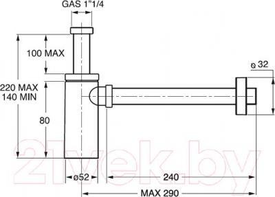 Сифон для умывальника Bonomini 0595EC25K7 - схема