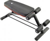 Скамья для пресса Adidas ADBE-10230 (черно-бело-красный) -