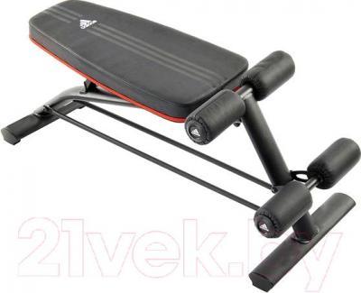 Скамья для пресса Adidas ADBE-10230 (черно-бело-красный) - общий вид