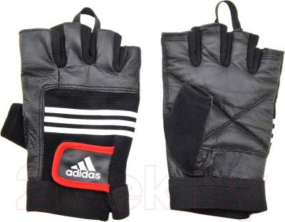 Перчатки для пауэрлифтинга Adidas Leather Lifting Glove S/M ADGB-12124