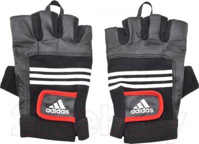 Перчатки для пауэрлифтинга Adidas Leather Lifting Glove L/XL ADGB-12125