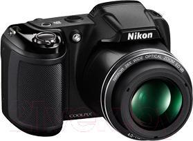 Компактный фотоаппарат Nikon Coolpix L340 (черный) - общий вид