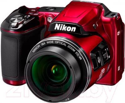 Компактный фотоаппарат Nikon Coolpix L840 (красный) - общий вид