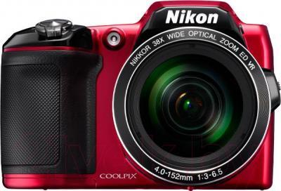 Компактный фотоаппарат Nikon Coolpix L840 (красный) - вид спереди