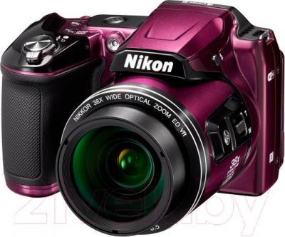 Компактный фотоаппарат Nikon Coolpix L840 (сливовый) - общий вид
