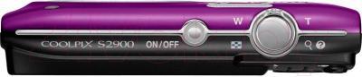 Компактный фотоаппарат Nikon Coolpix S2900 (фиолетовый) - вид сверху